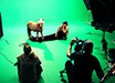 Large Green Screen Studio Production Still with Pony