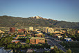 Downtown Colorado Springs and Pikes Peak